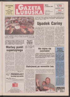 Gazeta Lubuska R. XLV [właśc. XLVI], nr 199 (27 sierpnia 1997). - Wyd. 1