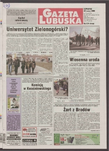 Gazeta Lubuska R. XLVIII [właśc. XLIX], nr 70 (23 marca 2000). - Wyd. A