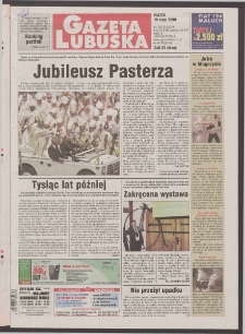 Gazeta Lubuska R. XLVIII [właśc. XLIX], nr 116 (19 maja 2000). - Wyd. A