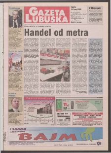 Gazeta Lubuska R. XLVIII [właśc. XLIX], nr 163 (14 lipca 2000). - Wyd. A