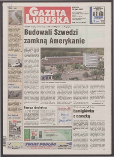 Gazeta Lubuska R. XLVIII [właśc. XLIX], nr 172 (25 lipca 2000). - Wyd. A