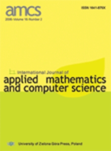 International Journal of Applied Mathematics and Computer Science (AMCS) 2006 Volume 16 Number 2