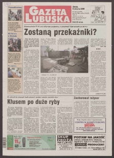Gazeta Lubuska R. XLVIII [właśc. XLIX], nr 185 (9 sierpnia 2000). - Wyd. A