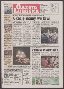 Gazeta Lubuska R. XLVIII [właśc. XLIX], nr 190 (16 sierpnia 2000). - Wyd. A