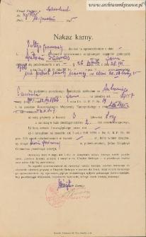 Antoni Sawras - Nakaz karny [nie pełnił warty nocnej w dniu 30.11.1935]