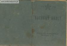 Antoni Sawras - Voennyj bilet (książeczka wojskowa)