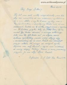 Antoni Sawras - [list od Marie Bardet]