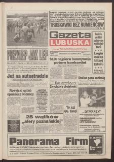 Gazeta Lubuska : dawniej Zielonogórska-Gorzowska R. XLII [właśc. XLIII], nr 136 (13 czerwca 1994). - Wyd. 1