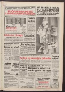 Gazeta Lubuska : magazyn : dawniej Zielonogórska-Gorzowska R. XLII [właśc. XLIII], nr 141 (18/19 czerwca 1994). - Wyd. 1