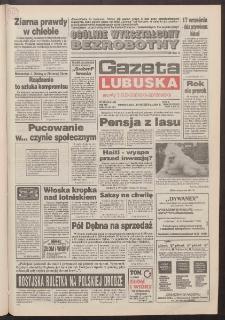 Gazeta Lubuska : dawniej Zielonogórska-Gorzowska R. XLII [właśc. XLIII], nr 219 (19 września 1994). - Wyd. 1