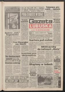 Gazeta Lubuska : dawniej Zielonogórska-Gorzowska R. XLII [właśc. XLIII], nr 222 (22 września 1994). - Wyd. 1