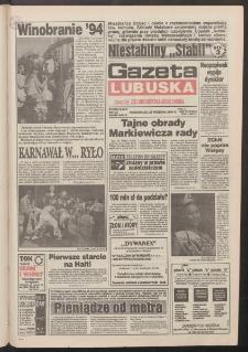 Gazeta Lubuska : dawniej Zielonogórska-Gorzowska R. XLII [właśc. XLIII], nr 225 (26 września 1994). - Wyd. 1