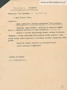 Józef Wilk - Uchwała Nr. V/5/60 Gromadzkiej Rady Narodowej w Witnicy z dnia 27. maja 1960 r. w sprawie zmian osobowych w Gromadzkiej Radzie Narodowej