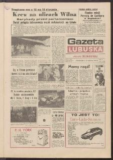 Gazeta Lubuska : dawniej Zielonogórska R. XXXIX [właśc. XL], nr 11 (14 stycznia 1991). - Wyd. 1