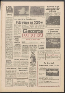 Gazeta Lubuska : dawniej Zielonogórska R. XXXIX [właśc. XL], nr 18 (22 stycznia 1991). - Wyd. 1