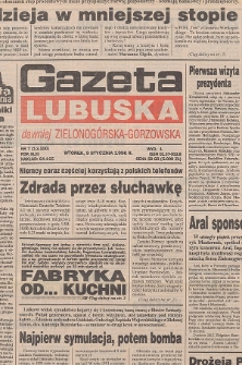 Gazeta Lubuska : dawniej Zielonogórska-Gorzowska R. XLIV [właśc. XLV], nr 28 (2 lutego 1996). - Wyd. 1