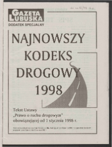 Gazeta Lubuska R. XLVI [właśc. XLVII], nr 12 (15 stycznia 1998). - Wyd 1