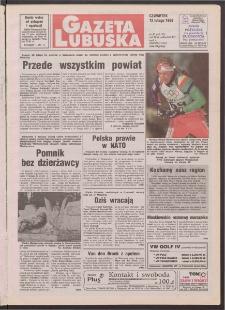 Gazeta Lubuska R. XLVI [właśc. XLVII], nr 36 (12 lutego 1998). - Wyd 1