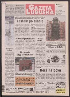 Gazeta Lubuska R. XLVI [właśc. XLVII], nr 110 (12 maja 1998). - Wyd 1