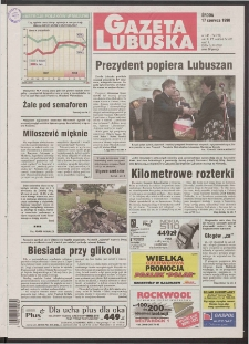 Gazeta Lubuska R. XLVI [właśc. XLVII], nr 140 (17 czerwca 1998). - Wyd 1
