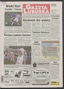 Gazeta Lubuska R. XLVI [właśc. XLVII], nr 159 (9 lipca 1998). - Wyd 1
