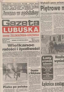Gazeta Lubuska : dawniej Zielonogórska-Gorzowska R. XLIII [właśc. XLIV], nr 26 (31 stycznia 1995). - Wyd. 1