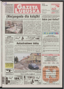 Gazeta Lubuska R. XLVI [właśc. XLVII], nr 172 (24 lipca 1998). - Wyd 1