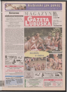 Gazeta Lubuska : magazyn R. XLVI [właśc. XLVII], nr 190 (14/15/16 sierpnia 1998). - Wyd 1
