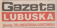 Gazeta Lubuska : dawniej Zielonogórska-Gorzowska R. XLIII [właśc. XLIV], nr 73 (27 marca 1995). - Wyd. 1