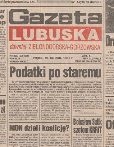 Gazeta Lubuska : dawniej Zielonogórska-Gorzowska R. XLIII [właśc. XLIV], nr 158 (10 lipca 1995). - Wyd. 1