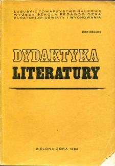 Dydaktyka Literatury, t. 5 - spis treści