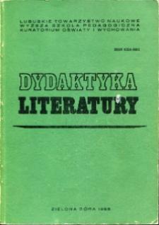 Dydaktyka Literatury, t. 7 - spis treści