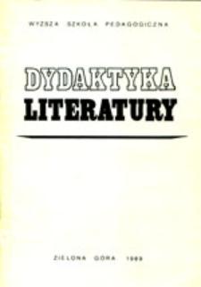 Dydaktyka Literatury, t. 10 - spis treści