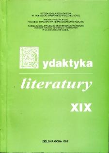 Dydaktyka Literatury, t. 19 - spis treści