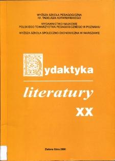 Dydaktyka Literatury, t. 20 - spis treści