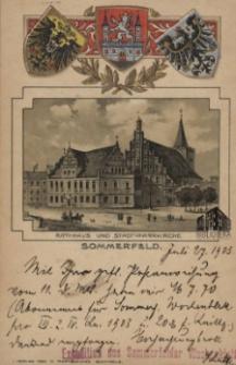 Lubsko / Sommerfeld; Rathhaus und Stadtpfarrkirche