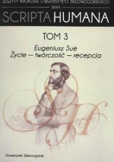 Eugeniusz Sue: życie - twórczość - recepcja