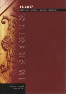 In Gremium : studia nad historią, kulturą i polityką, tom 11 - spis treści