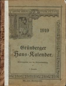 Grünberger Hauskalender 1919