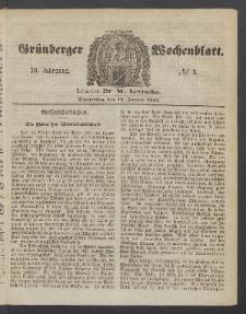 Grünberger Wochenblatt, No. 3. (12. Januar 1854)
