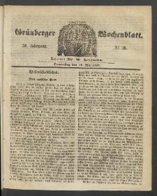 Grünberger Wochenblatt, No. 39. (18. Mai 1854)