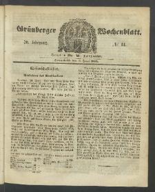 Grünberger Wochenblatt, No. 44. (3. Juni 1854)