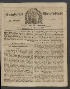 Grünberger Wochenblatt, No. 102. (25. Dezember 1854)