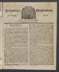 Grünberger Wochenblatt, No. 11. (7. Februar 1856)