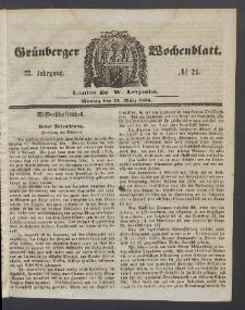Grünberger Wochenblatt, No. 24. (24. März 1856)