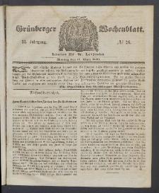 Grünberger Wochenblatt, No. 26. (31. März 1856)