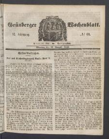 Grünberger Wochenblatt, No. 66. (18. August 1856)