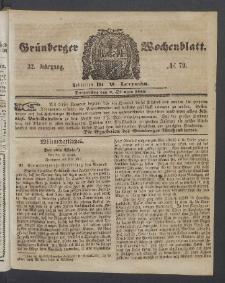 Grünberger Wochenblatt, No. 79. (2. Oktober 1856)