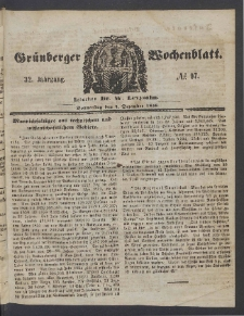 Grünberger Wochenblatt, No. 97. (4. Dezember 1856)