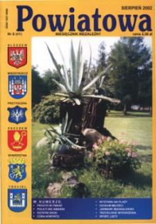 Powiatowa: miesięcznik niezależny, nr 8 (41) (sierpień 2002)